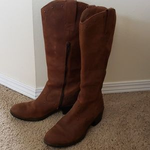 b.o.c brown leather boots